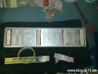 3M Dual Lock als Befestigung des Kennzeichens Malerkrepp zur Markierung der Postition auf der Stoßstange